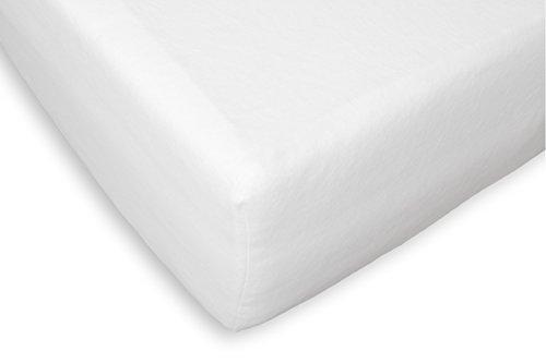 Briljant Home Molton matrasbeschermer alleen voor toppermatras met split, katoen, wit