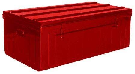 Pierre Henry Malle de Rangement en métal Rouge 225 litres