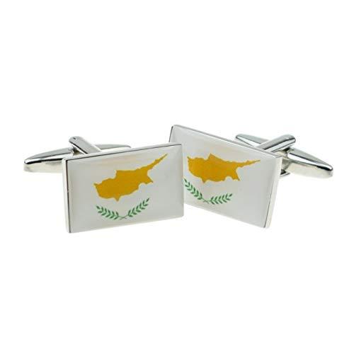Cyprus vlag manchetknopen met geschenkdoos & verzonden uit het Verenigd Koninkrijk