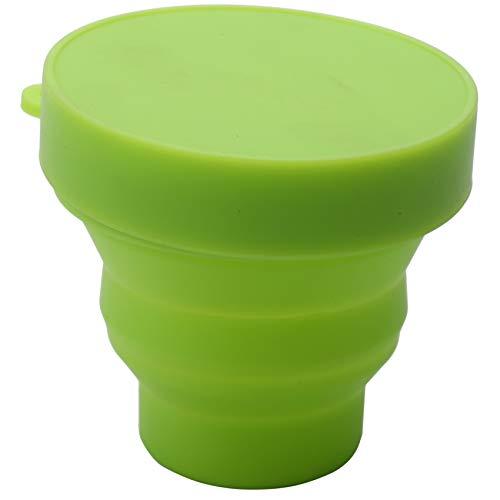 Mifive Vaginal Menstruationstasse und Sterilisationstasse Sterilisation Faltbare Tassen Flexibel zu Reinigen Recycelbar Camping Faltbare Tasse für Frauen (GrüN)