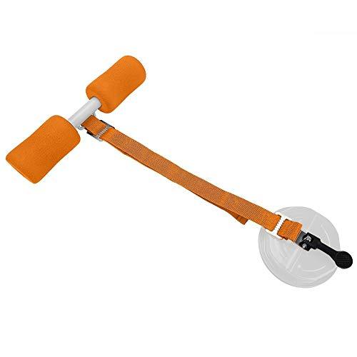 Equipo para sentarse, dispositivo auxiliar para sentarse en el hogar, portátil pequeño ajustable para uso en viajes de gimnasio en casa(Orange)