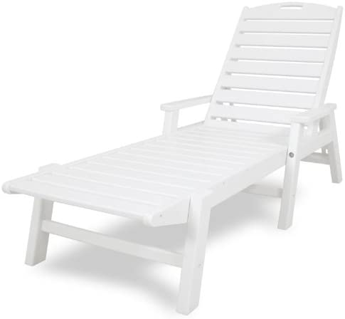 Best POLYWOOD NCC2280-WH Nautical Arms Chaise, White