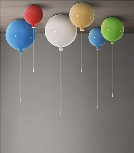 LIUNIAN Plafoniera a palloncino colorato Lampada a soffitto moderna semplice, Lampadario decorativo per camerette per bambini, 25 cm di diametro, con lampadina da 5W