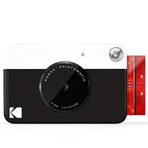 Kodak PRINTOMATIC Digitale Sofortbildkamera, Vollfarbdrucke auf Zink 2x3-Fotopapier mit Sticky-Back-Funktion - Drucken Sie Memories Sofort (Schwarz)