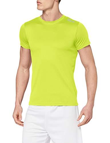 Rogelli Promo - Maglietta da Running a Maniche Corte, da Adulto Giallo Yellow - Fluor M
