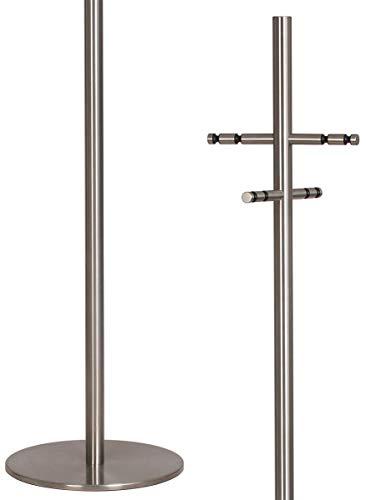 HISKA | GA-100.7 | Garderobenständer Edelstahl Kleiderständer Garderobe freistehend stabil Objekteinrichtung
