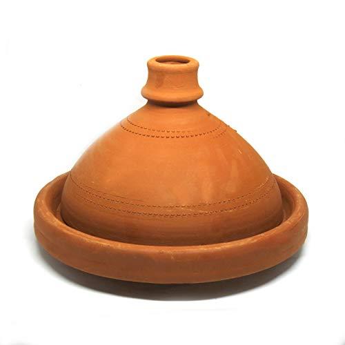 Marocain Tajine pour 6 personnes 32 cm - Pot en argile d'origine fabriqué à la main en Marokko