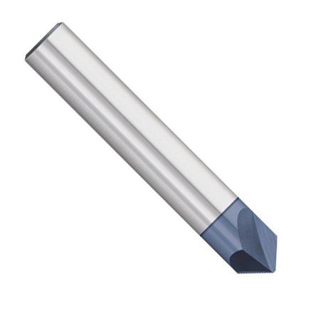 Kodiak Cutting Tools KCT252795 USA Made Solid Carbide Chamfer Mill, AlTiN Coated, 82 Degree, 2 Flute, 3/8