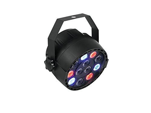 EUROLITE LED Party Spot | 12 x 1 W RGBW LEDs | Standalone oder DMX | LED Display Anzeige | Mit Stroboskopeffekt