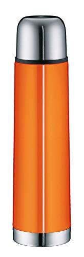 alfi 5457.204.075 Isolierflasche isoTherm Eco, Edelstahl Orange, 0,75 Liter, Drehverschluss, 12 Stunden heiß, 24 Stunden kalt, BPA-Free
