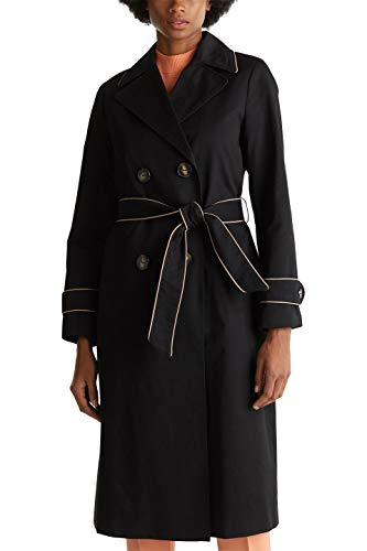 ESPRIT Collection Damen 010EO1G310 Mantel, Schwarz (Black 001), (Herstellergröße: 38)