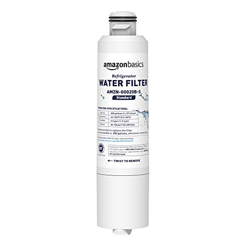 AmazonBasics – Filtro dell'acqua di ricambio per frigorifero, ideale per Samsung DA29-00020B, Filtrazione Standard
