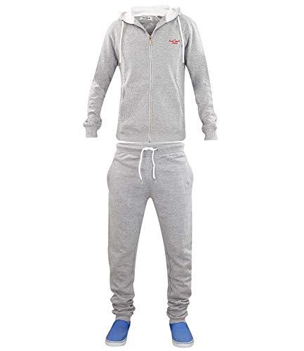 Jack Zuid Mens Tracksuit Fleece Hoodie Broek Joggen Bodem Zip Joggers Gym Sport Hardlopen Track Suit Elastische Taille