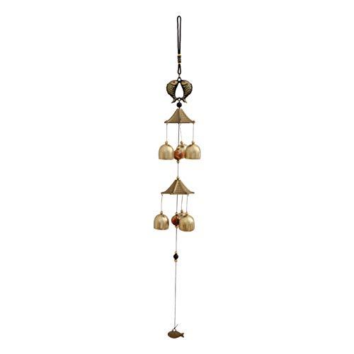 YARNOW Glocken Glück Wind Glockenspiel Feng Shui Ornament für Viel Glück Hausgarten Terrasse Hof Hängen Dekoration Vintage Anhänger Stil 2
