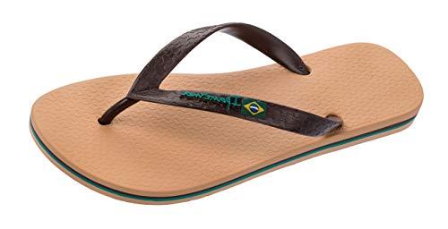 Ipanema Men's Classic Brazil Plastic Flip Flop Brown Sand Size 7/8