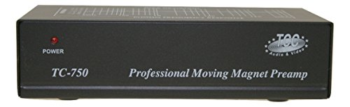 Technolink TC-750 Audiophile RIAA Phono Preamp, 85dB S/N, Black or Silver, Your Choice (Black)