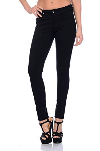 Freyday Modische Damen Jeggings Leggings Hüfthose Stretch Slimfit (M, Schwarz),Etikettgröße:38