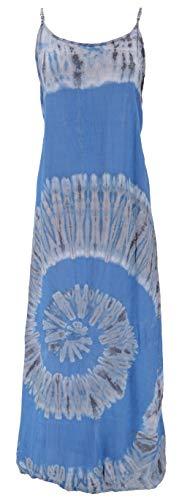 Guru-Shop, Tie Dye Maxi-jurk, Strandjurk, Zomerjurk, Lange Jurk, Groen, Synthetisch, Size:14, Lange Midi-jurken