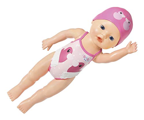 Zapf Creation 831915 BABY born My First Swim Girl 30 cm große wasserfeste Aufziehpuppe für die Badewanne oder den Pool