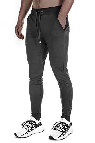 FIRSTGYM Men's Gym Active Pants Slim Fit Workout Running Jogger Sweatpants