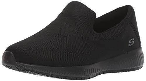 Skechers womens Squad Sr Miskin Health Care Professional Shoe, Black, 7.5 US