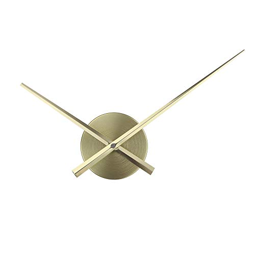 Timelike - Orologio 3D con lancette per orologio, fai da te, grandi, aghi da parete Oro