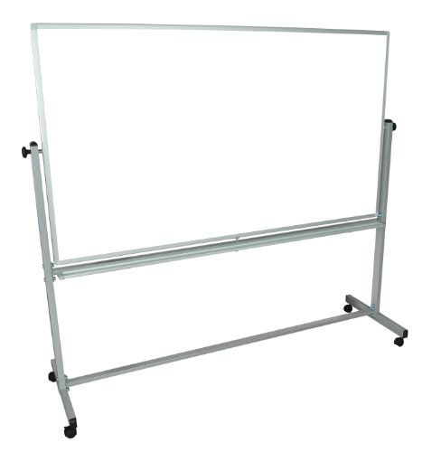 Stand Up Desk Store Beidseitig mobiles Magnet-Whiteboard (180cm x 100cm)