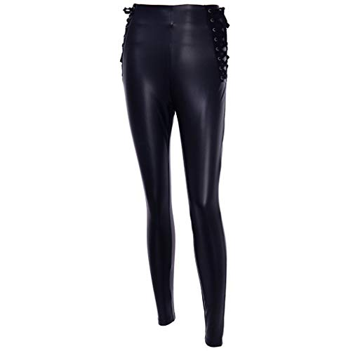 Leggings Pantalon, YUYOUG Femmes Vintage Solid Office Plus Cachemire Lady Casual Pantalon en Cuir Pantalon Long Hot Capris Pantalons