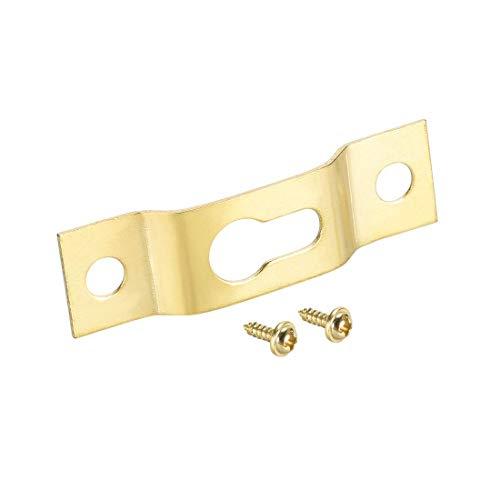 YeVhear - Placa para colgar en la pared, 40 mm x 11 mm, 50 unidades (dorado)