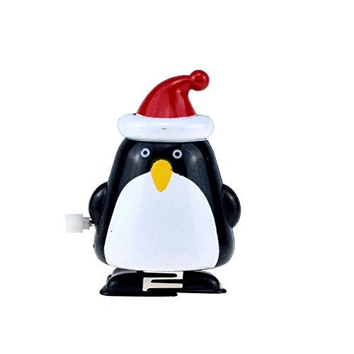 Wilk Weihnachten Aufziehspielzeug Movable Sankt Elk Pinguin-schneemann-Spielzeug-neuheit Jungen, Mädchen, 8 Stück