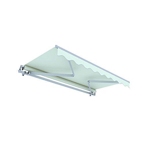 jarolift Gelenkarmmarkise Basic Plus Balkonmarkise Sonnenschutz für Terrasse, 550 x 350 cm, Elfenbein Uni