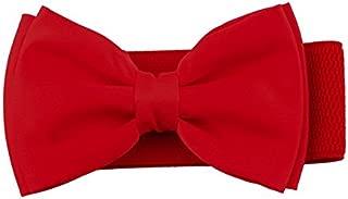 Milopon Cintura cinturón elástico Ancho Lazo Hebilla Cintura plástico Cinturón de Entrelazado para Jeans Cinturón V6D310Z Rojo