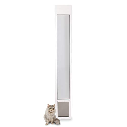 PetSafe Freedom Aluminum Patio Panel Sliding Glass Dog and Cat Door, Adjustable 76 13/16 in to 80...
