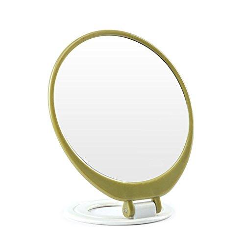 GSN Plier Portable Miroir Cosmétique Bureau HD Unique Miroir De Vanité De Voyage Voyage De Poche Miroir De Poche Miroir (Color : Green)