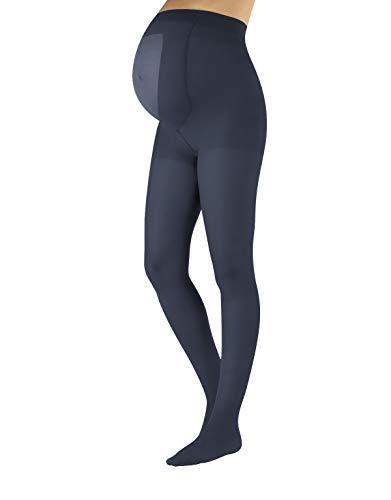 CALZITALY Collant Opachi Premaman | Calze Maternity Gravidanza | Nero, più Colori | S, M, L, XL | 100 DEN | Made in Italy (M, Blu Jeans)
