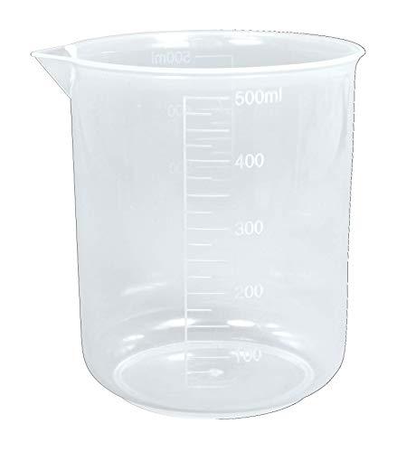 Rayher 34458000 Taza medidora de 500 ml, 90 mm ø, Vaso medidor resistente y preciso