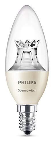 Philips 3-in-1 LED Lampe SceneSwitch ersetzt 40W, EEK A+, E14 Kerze, Dimmen ohne Dimmer, 8718696598474