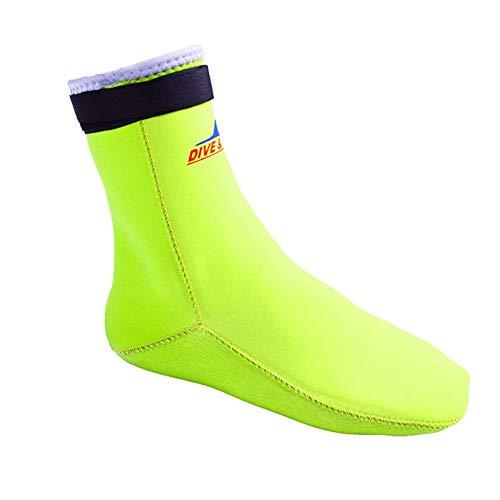 MDYYD Diving Socks 3MM Diving Snorkeling High Elastic Non-Slip Socks Anti-Scratch Warm Winter Swimming Socks Waterproof Female Socks Non-Slip Flexible Diving Socks (Color : Yellow, Size : XS)