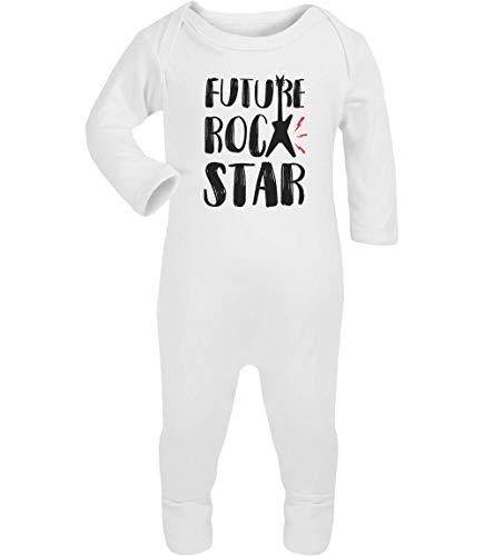 Baby Musik Geschenk Future Rock Star Baby Strampler Strampelanzug 12-18 Monate (86/92) Weiß