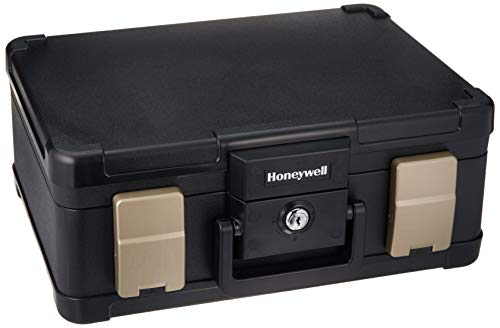 Honeywell Safes & Door Locks - 30 Minute Fire Safe Waterproof Safe Box Chest with Carry Handle,...