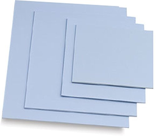 "Easy Cut Carving Sheets - 4 Pack Blue Soft & Firm Artist Printmaking Block Printing Set for Sharp, Clear Prints Easy-to-Cut Linoleum (5"" × 7"")"
