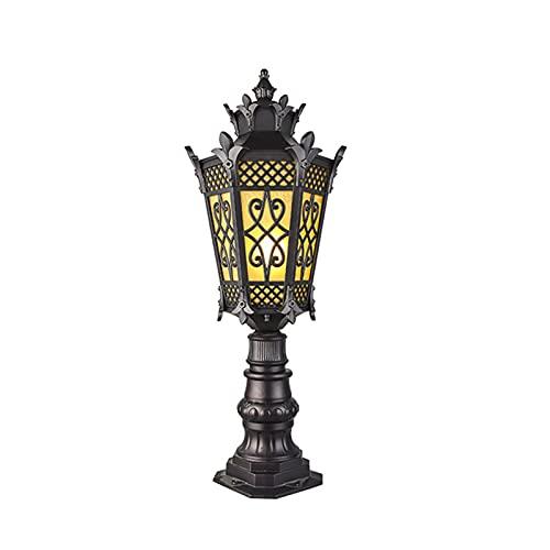 Tokujn Lámpara de pared a prueba de agua IP65, lámpara de pilar de palacio antiguo de estilo europeo, patio al aire libre de la lámpara del jardín del jardín del jardín del jardín del jardín del jardí