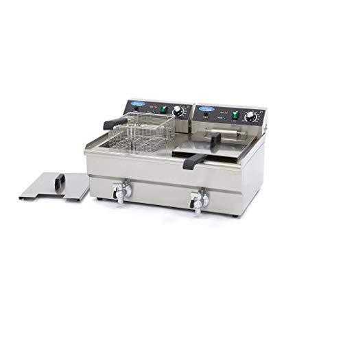 Horeca Friteuse/Frituurpan 2 x 16L Elektrisch met Tapkraan