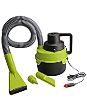 SNAPSHOPECOM Auto vaccum 12V DC 90W Portable Plastic Wet Dry Canister Outdoor Car Boat Mini Vacuum Cleaner Air Inflating Pump New Wet Powerful Suction and Blower Function Car and Home Vacuum Cleaners
