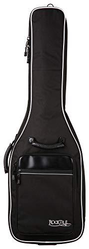Rocktile 3/4 und 7/8 Klassik-Gitarrentasche - gepolstert mit Rucksackgarnitur Gigbag für Konzertgitarre Schwarz