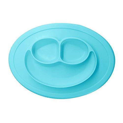 Pinji Assiette Bol Vaisselle en Silicone pour B/éb/és Nourrissons Enfants en Bas /Âge 100/% Sans BPA et Approuv/ées par la FDA Aspiration Forte /à la Table Set de Table Antid/érapant 40x27cm Rose