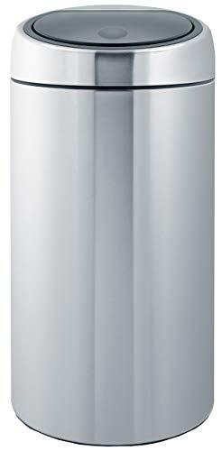 Touch Bin   Cubo de Basura, 45 litros, Cubo Interior de plástico extraíble, Acero Mate Anti Huellas