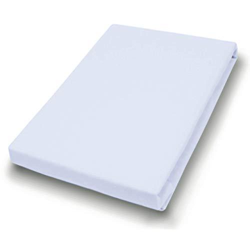 Hahn Haustextilien Jersey-Laken für Matratzentopper 180-200x200-220 cm hellgrau