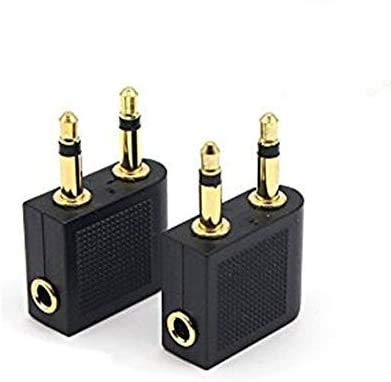 Alait 2 Pack 3.5mm Gold Plated Airplane Airline Flight Adapters / 2...