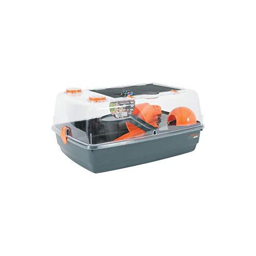 Zolux Indoor 55- Gabbia per Criceto, con visuale a 360°, Colore: Arancione